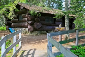 Old Timers Cabin is on Dr. Roberts Trail. This portion of the trail is ADA accessible.